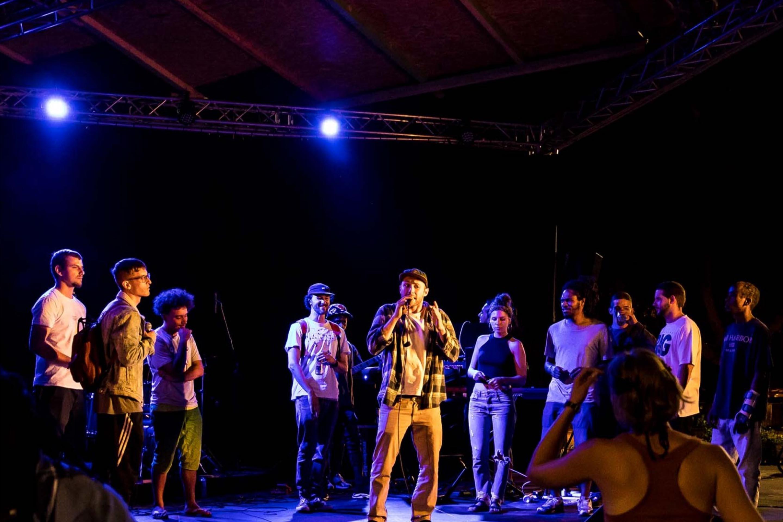 Freestyle Rap mit MC's und Band